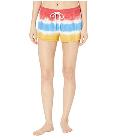 P.J. Salvage Vintage Feels Tie-Dye Shorts (Ivory) Women