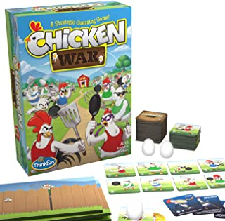 ThinkFun Chicken War Game and Brainteaser for Boys and Girls Age 8 and Up - A Smart Game with a Fun Theme and Hilarious Artwork