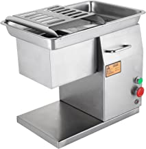 FoodKing Commercial Meat Slicer 550LB/H 550W Stainless Steel Fresh Meat Cutter 3mm Cutting Blade ElectricMeat Cutting Machine for Restaurant (550LBS/H)