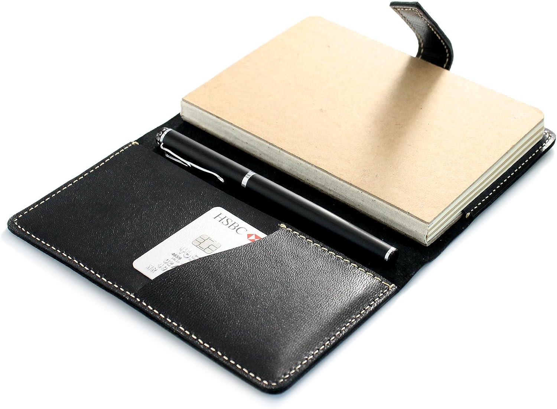 Personalisierbar A6 Notebook Ziegenleder Leder Leder Leder Tagebuch Planer Schwarz B07DPKSDBX | Reparieren  | Sale Düsseldorf  | Vorzüglich  c696d1