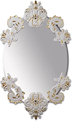 Lladro Oval Mirror Without Frame White / Gold