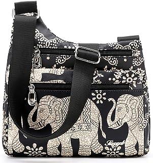 KEAKIA African Masks Set Round Crossbody Bag Shoulder Sling Bag Handbag Purse Satchel Shoulder Bag for Kids Women