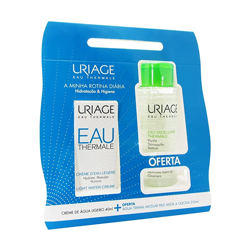 役立つ再集計出発Uriage Pack Light Water Cream 40ml + Thermal Micellar Water Combination To Oily Skin 250ml [並行輸入品]