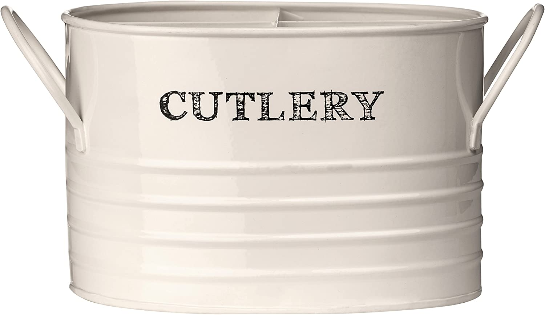 Premier Housewares Sketch - Cubo Organizador de Cubiertos, Color Beige