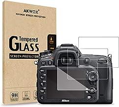 (پکیج 3) محافظ صفحه نمایش خو برای Nikon D7100 D7200 D800 D800e D810 D750 D600 D610 D500 ، Akwox [0.3mm 2.5D High Definition 9H] محافظ محافظ شیشه ای LCD Premium