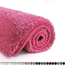 Suchtale Bath Rug for Bathroom Non Slip Bathroom Mat (20 x 32, Hot Pink) Water Absorbent Soft Microfiber Shaggy Bathroom R...