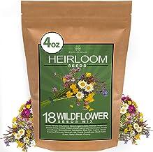 Wildflower Seeds - Premium Flower Seeds [1/4 Pound] Perennial Garden Seeds for Attracting Birds & Butterflies - Flower See...
