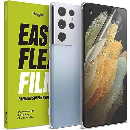 "Ringke Easy Flex Compatible con Protector Pantalla Galaxy S21 Ultra 6.8"" Screen Protector - 2 Unidades"