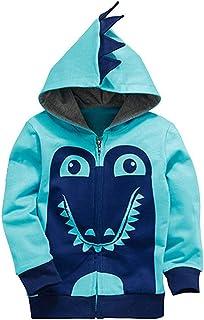 Garsumiss Little Boys Cute Animal Dinosaur Hoodie Sport Long Sleeve Cartoon Hooded