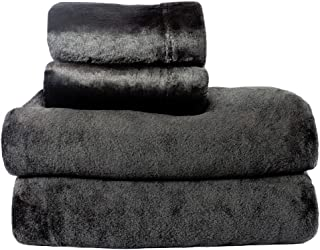 Cozy Fleece Comfort Collection Velvet Plush Sheet Set, King, Black, 1 Sheet Set