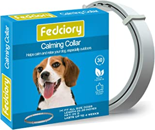 Fedciory Calming Pheromone Collar for Dogs Adjustable Collars with Long-Lasting Calm..