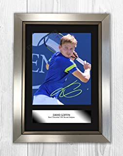 Engravia Digital David Goffin Poster Signed Mounted Autograph Reproduction Photo A4 Print Silver Frame