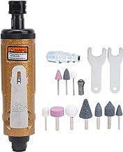 Air Die Grinder, Mini Air Straight Die Grinder Manual Angle Grinder Labor‑Saving Pneumatic Grinder with 10 Pcs Grinding He...