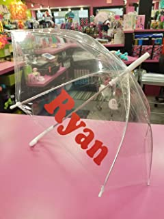 Personalized Umbrella Clear Kids Unisex Rainstoppers Umbrella Name or Initials