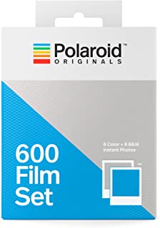 Polaroid Originals 4844 - Set de películas Tipo 600 (1 Paquete Color 1 N&B) Marco Blanco