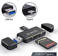 Hoonyer Lector de Tarjetas Memoria SD/Micro SD Lector Tarjetas SD USB 3.0 USB Tipo C para PC y portátil Smartphone Tablet con función OTG