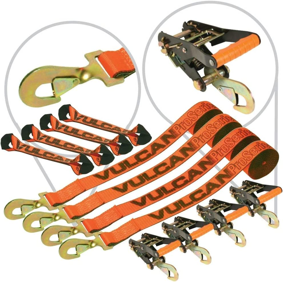 VULCAN 8-Point Roll Back Vehicle Tie with Max 42% price OFF Hooks Down On Snap Kit