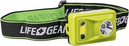Life Gear USB Rechargeable Hands Free Motion Sensor Headlamp, Lime Green
