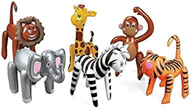 6 Assorted Inflatable Safari Zoo Animals