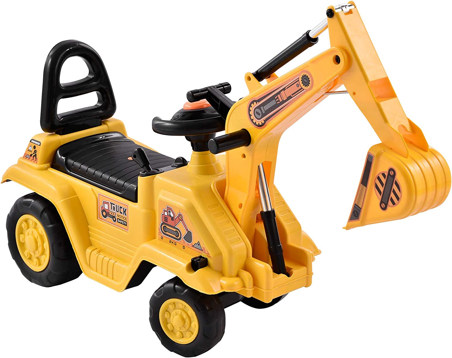 Frifer Kids Ride On Credence Excavator with famous Construction Horn Toy Truck