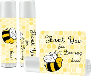 12 Bee Lip Balm Favors - Bee Baby Shower Favor Lip Balms - Bee Birthday Favor Lip Balms - Lip Balm Favors