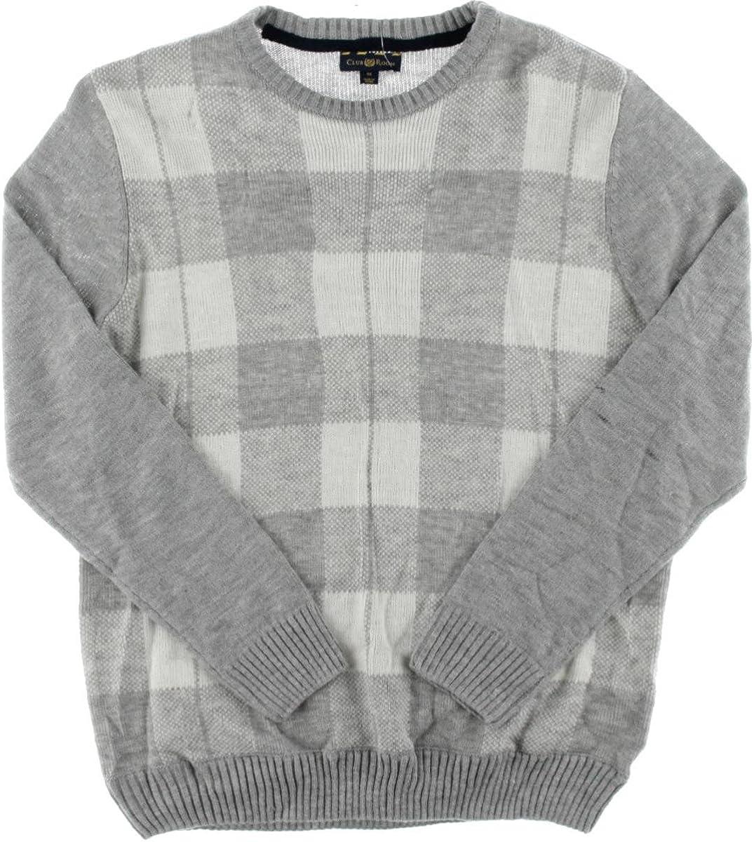 Club Room Men's Buffalo-Plaid Sweater