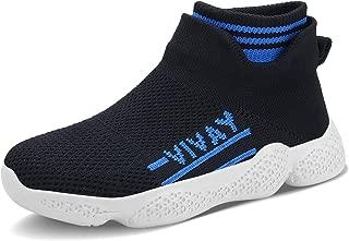 FEITAI Boys Tennis Shoes Kids Running Sneakers Lightweight Girls Walking Slip-On Athletic Tennis Shoes
