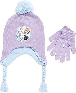 Girls Frozen Elsa and Princess Winter Hat and Mitten Set...
