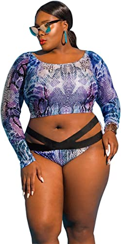 Gyps Femme Bikini Sexy de Bain Bikini à Bretelle Triangle maillot de bain Plage Maillot de Bain XL Couples Trendy grand maillot de bain, Violet, L