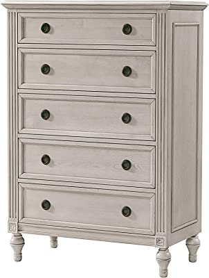 Westwood Design Viola 5 Drawer Chest,Lace