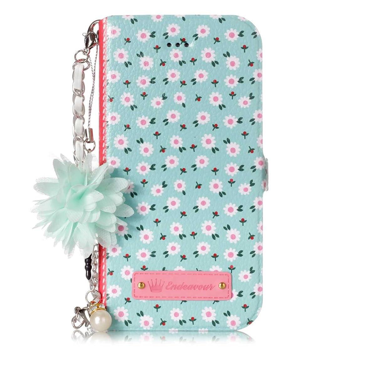 カカドゥデンプシー不正OMATENTI iPhone 7 Plus/iPhone 8 Plus ケース, 簡約風 軽量 PU レザー 財布型 カバー ケース, こがら 花柄 人気 かわいい レディース用 ケース ザー カード収納 スタンド 機能 マグネット, iPhone 7 Plus/iPhone 8 Plus 用 Case Cover, 小さなデイジー
