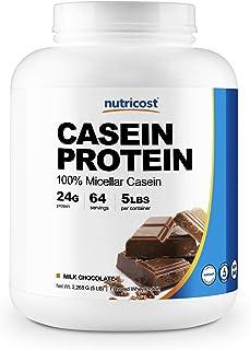 Nutricost Casein Protein Powder 5lb Chocolate - Micellar Casein, Gluten Free, Non-GMO