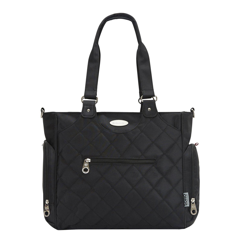 SoHo Tribeca Diaper Bag Travel Tote 9Pc - Black