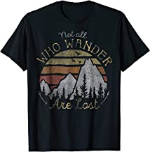Not All Who Wander Are Lost Gradient Mountain Gold T-Shirt