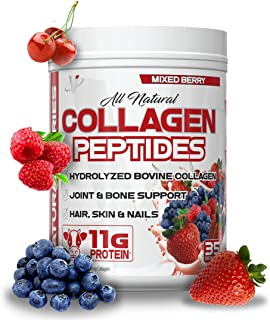 VMI Sports All-Natural Collagen Peptides Dietary Supplement, 35 Servings, Mixed Berry