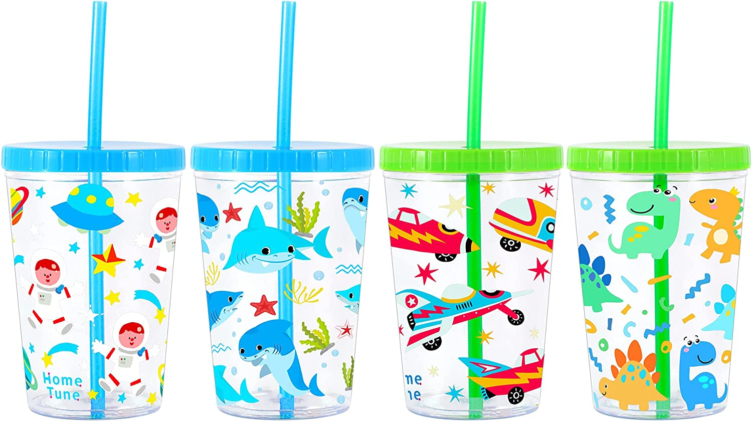 Excellence Home Tune 16oz Kids OFFer Tumbler Water Drinking BPA Cup Straw - Free