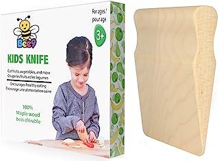 چاقوی کودکان چوبی ایمن برای آشپزی کودکان نوپا و کودکان