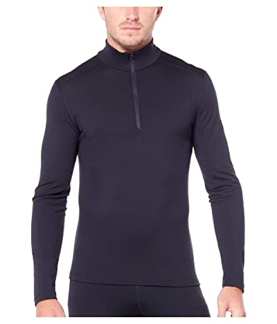 Icebreaker 200 Oasis Merino Base Layer Long Sleeve 1/2 Zip (Black) Men
