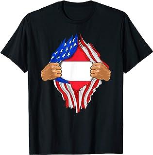 Austrian Blood Inside Me T-Shirt | Austria Flag Gift