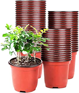CJIE 60 Pcs 4 Inches Plastic Plant Nursery Pots with 10 Pcs Plant Labels,Seed Starting Pot Flower Plant Container for Seed...