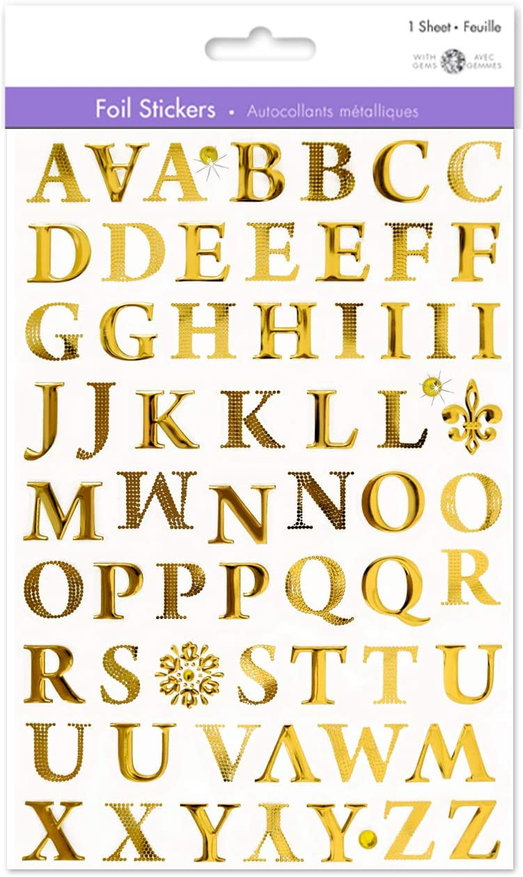 Gold Letter Stickers Gold Alphabet Stickers Gold Sticker Letters Adhesive Letters Stickers Sticky Letters Small Letter Stickers Self Adhesive Letters 3 4 Roman Style Uppercase Capital Letters 1 Sheet Kitchen Dining