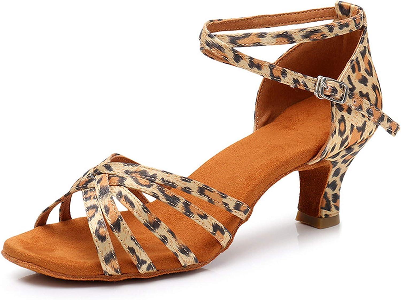 Women's Latin Dance Shoes Heeled Sandals Soft Comfy Latin Shoes Ballroom Shoes Professional Salsa Shoes Line Dance Practice Performance Sandal