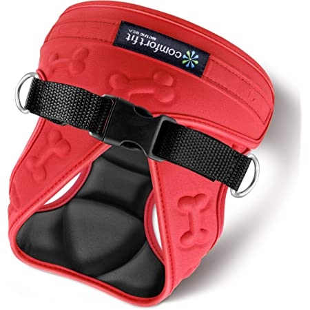 """metric USA Comfort Fit Step in Dog Harness Easy to Put on Take Off Adjustable Soft Padded Puppy Harness Vest for Small and Medium Dogs Under 30 lbs, Red, M, Chest 16-20"""""""