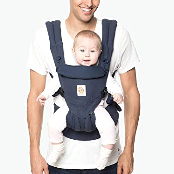 Ergobaby Baby Carrier, Omni 360 All Carry Positions Baby Carrier,Midnight Blue