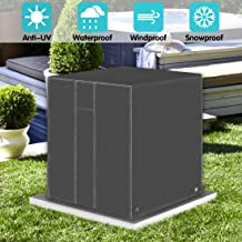 ZNCMRR Square Central Air Conditioner Cover, Durable Waterproof Winter Heavy Duty Outdoor Air Conditioner Cover with Vent (Dark Gray, 24