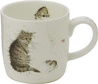 Royal Worcester MMLU5629-XSM Wrendale Cat and Mouse Mug, Multi-Color