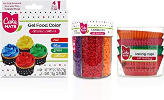 Sponsored Ad - Cake Mate All Holiday Decorating Supplies - Includes: All Holiday Sprinkle Mix, Gel Food Color, All Holiday...
