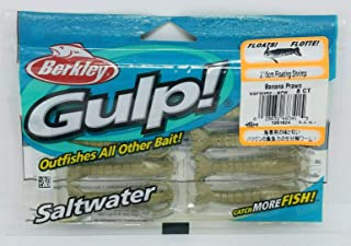 Gulp! Floating Shrimp Saltwater Bait, 2-Inch, Banana Prawn