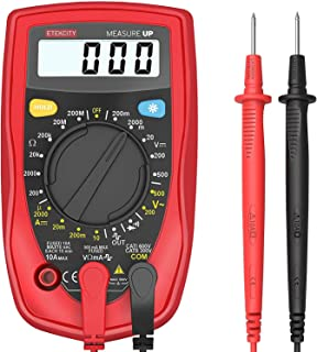 Etekcity Digital Multimeter, Voltage Tester Volt Ohm Amp Meter with Continuity, Diode and..