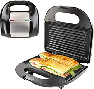 750W sandwich fabricante, doble calefacción, raya curvada tortilla de pan waffle sandwich sandwich sandwich asill recubrim...